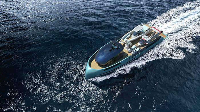 Яхта сопровождения Ice Kite везет дополнительное оборудование для развлечений