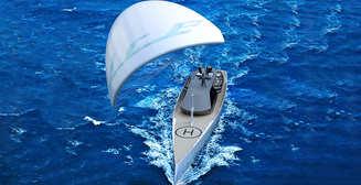 Ice Kite: суперяхта с огромным функциональным парусом