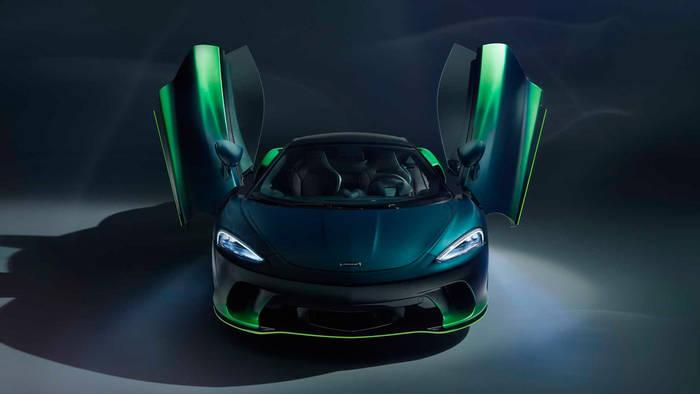 McLaren GT Verdant Theme — смесь основных оттенков зеленого