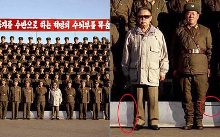 """Ким Чен Ир. Обрати внимание на его """"выглаженную"""" тень"""