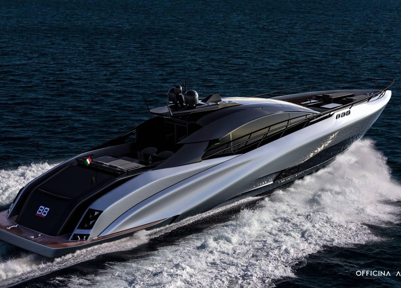 Морской Lamborghini: концепт яхты A88 Gransport от Officina Armare