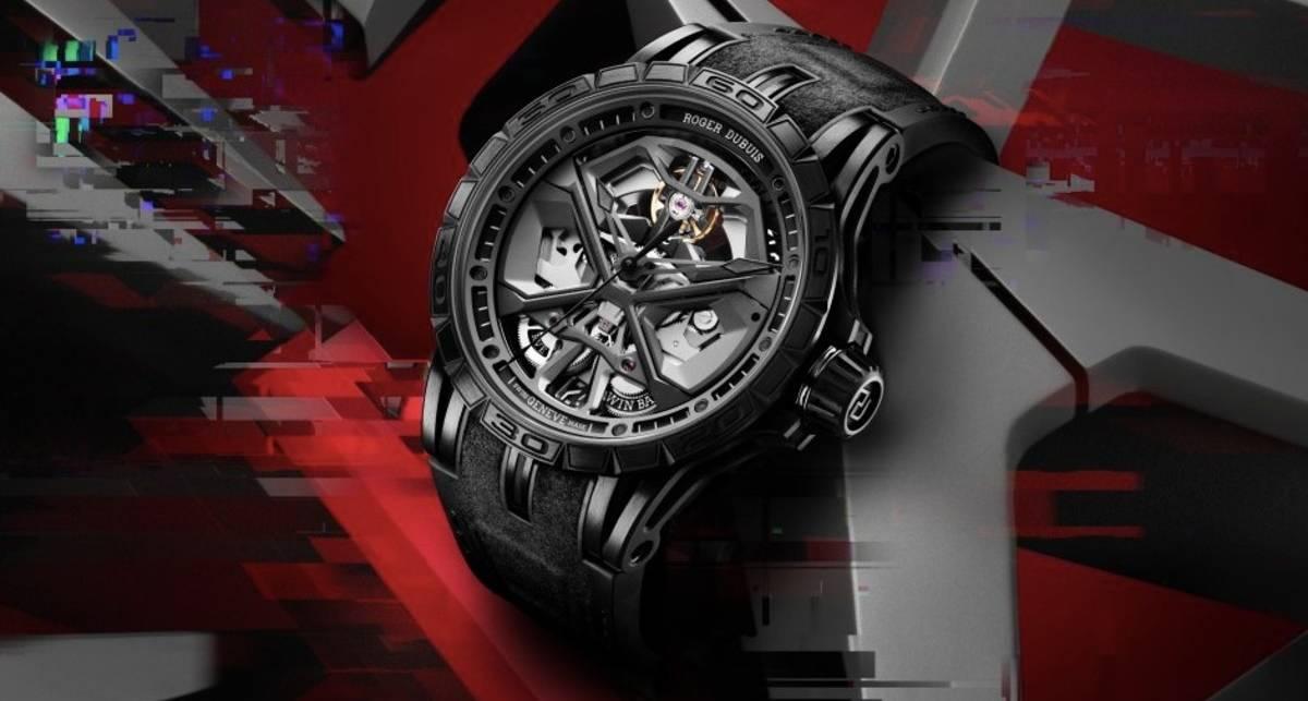 Ураганный дизайн: идеально черные часы Excalibur Huracán от Roger Dubuis
