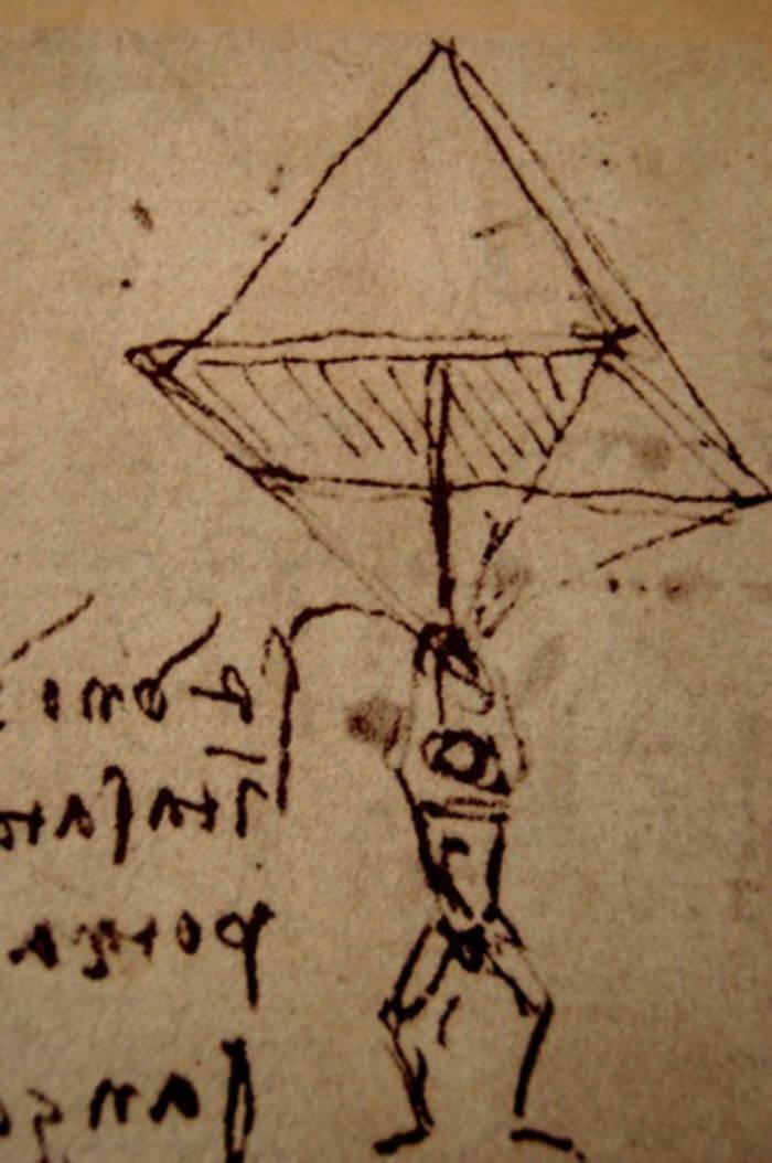 Парашют Леонардо да Винчи оказался рабочей моделью