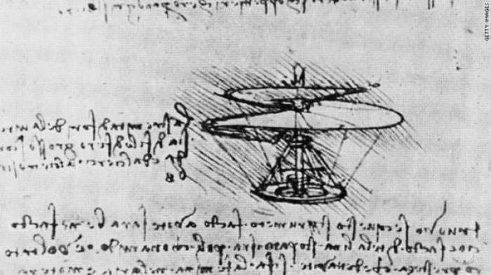 Воздушный винт да Винчи стал прототипом вертолета