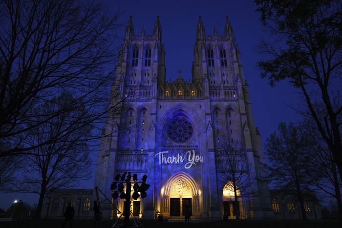 Проекция на Вашингтонском кафедральном соборе