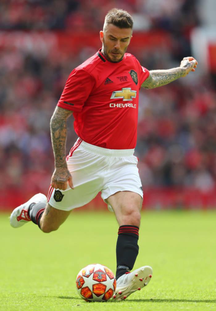 Дэвид Бекхэм с самого детства был влюблен в футбол, в частности в Манчестер Юнайтед