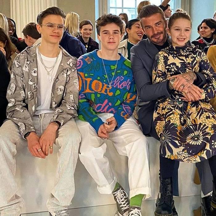 Дэвид Бекхэм и его детишки