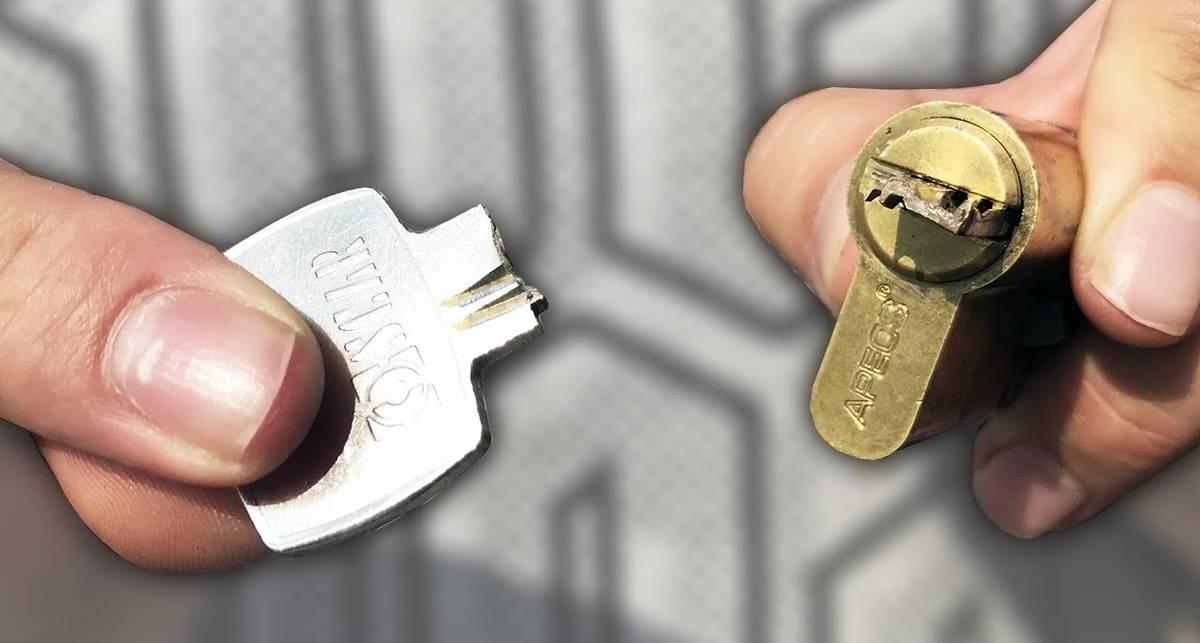 Как достать сломанный ключ в замке: мужские советы