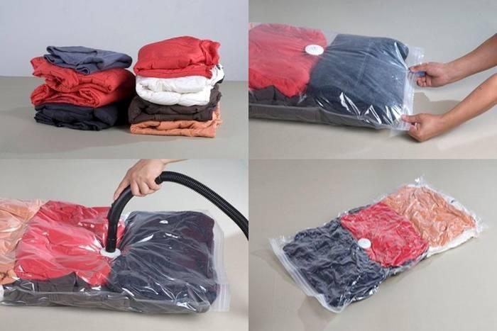 В вакуумные пакеты запакуй свитеры и пуховики