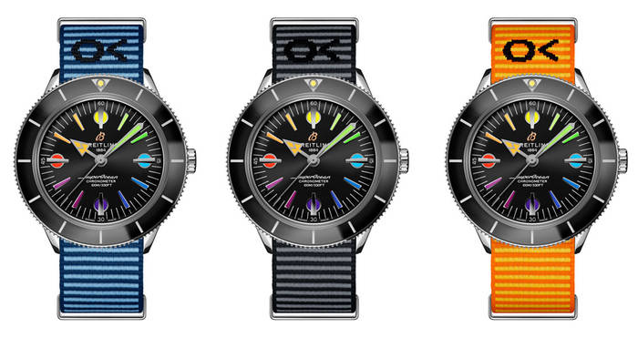 Breitling Rainbow Superocean Heritage '57 + ремешки в трех цветах