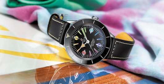 В борьбе против коронавируса: часы Breitling Rainbow Superocean Heritage '57