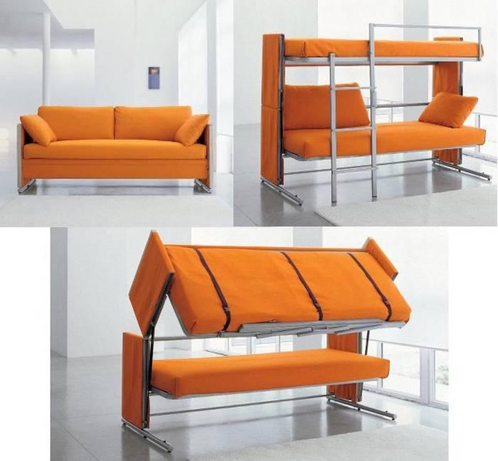 Складной диван-кровать и удобен, и места много не займет