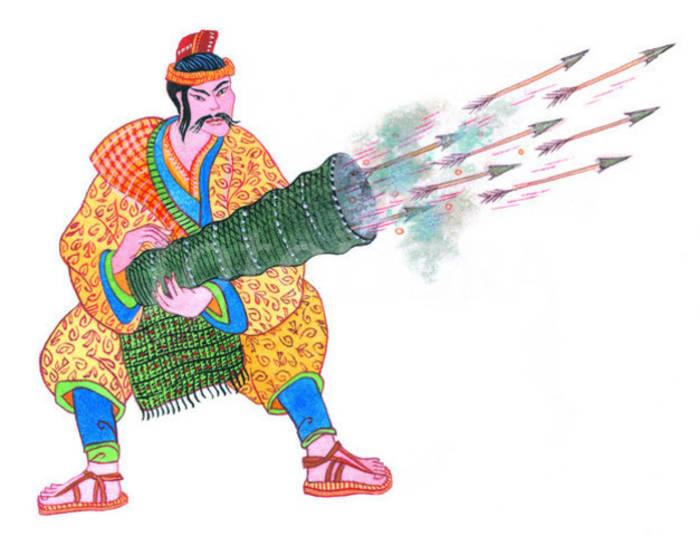 Первые упоминания о порохе — в одном из китайских военных трактатов, датированных 1044 годом