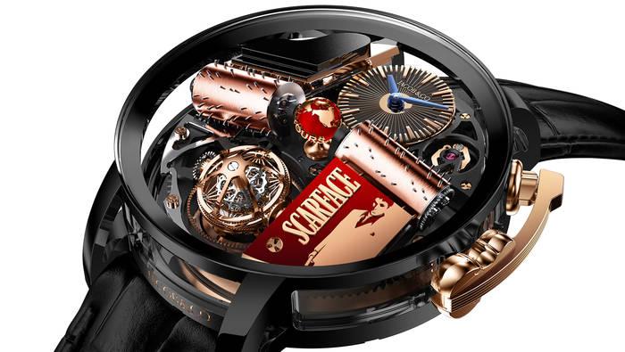 Scarface от Jacob & Co — часы с 49-мм корпусом и табличкой из 18-каратного розового золота