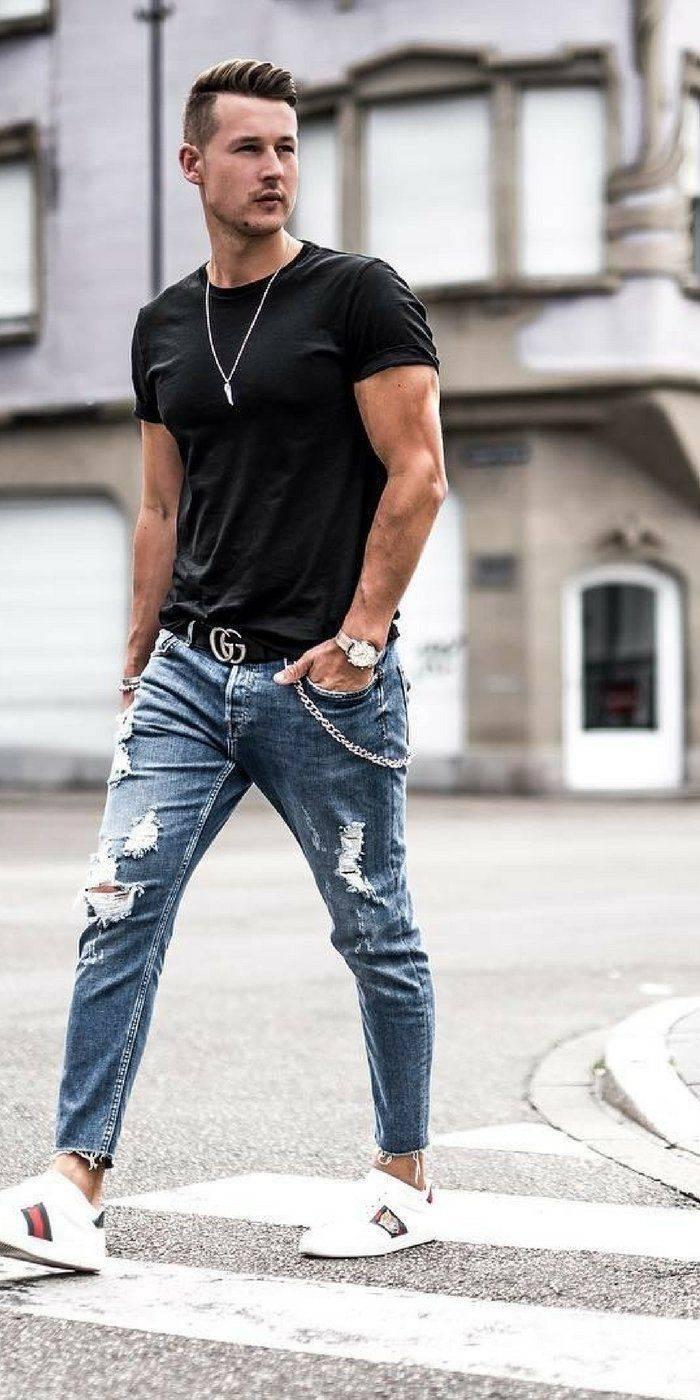 Хочешь быть модным — носи джинсы с дырками