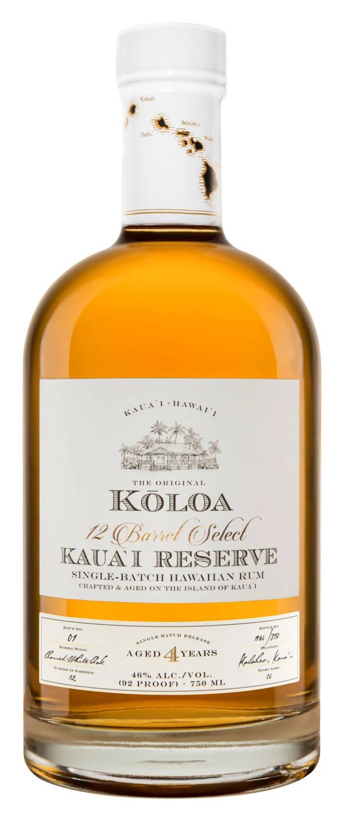 Koloa Kauai Four-Year Ages Reserve Rum — $50
