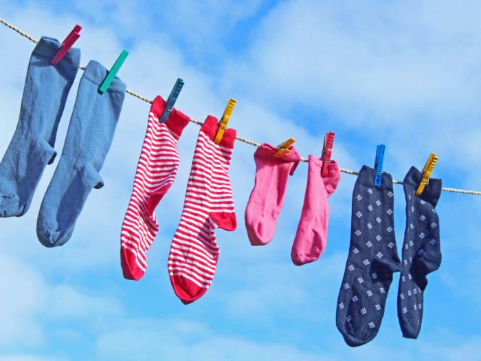 Всегда следи за тем, чтобы твое белье (носки в частности) было свежим и чистым