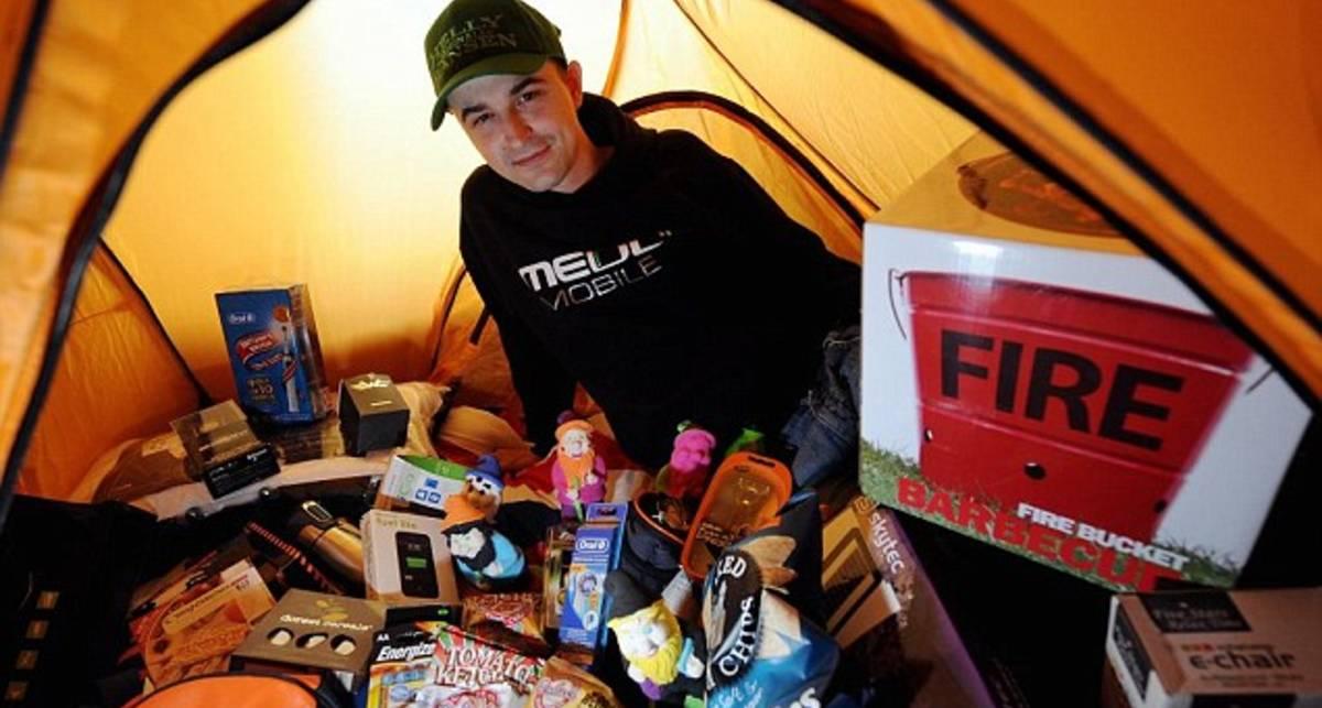 iPhone 5 заставил англичанина жить в палатке