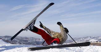 Любишь горные лыжи - береги колени!