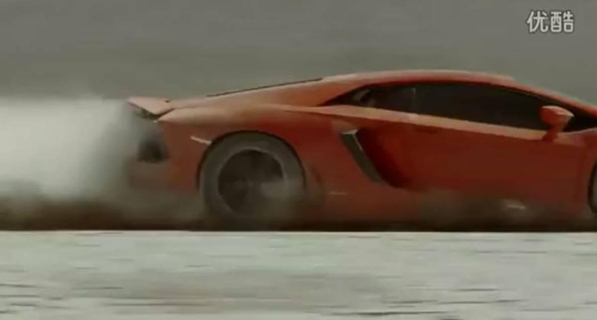 Землетрясения не пугают Lamborghini Aventador