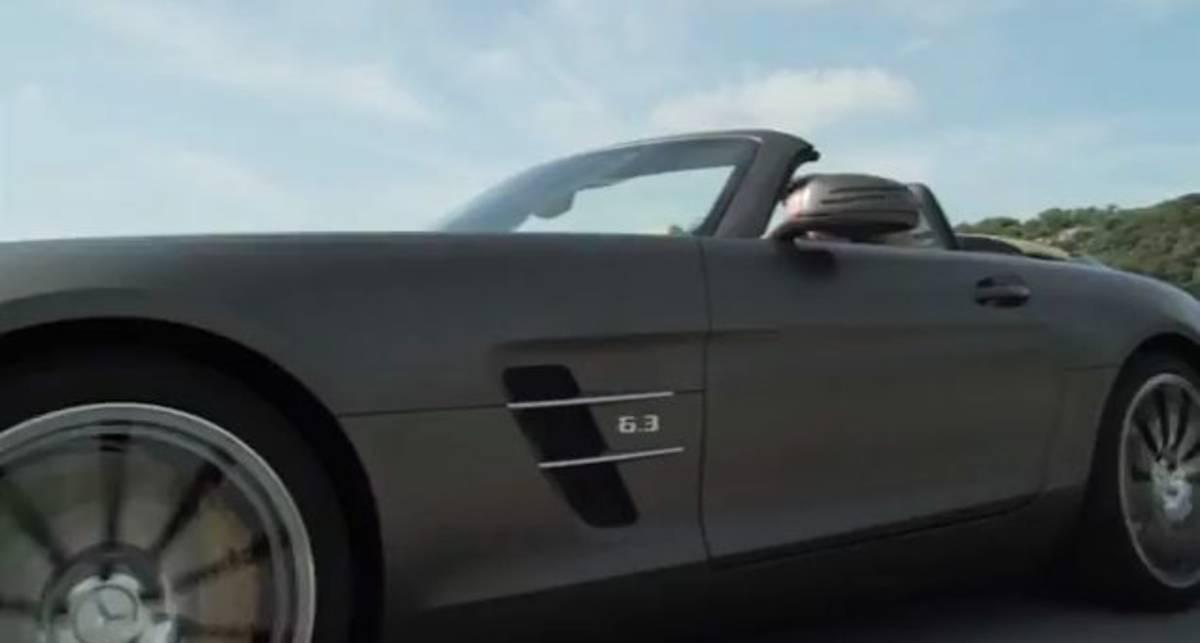 Купе Mercedes-Benz SLS AMG сняли на видео