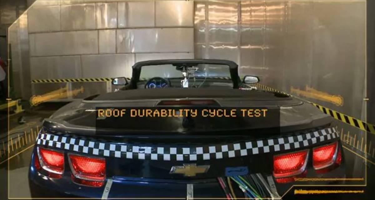 Кабриолет Chevy Camaro проходит суровые испытания