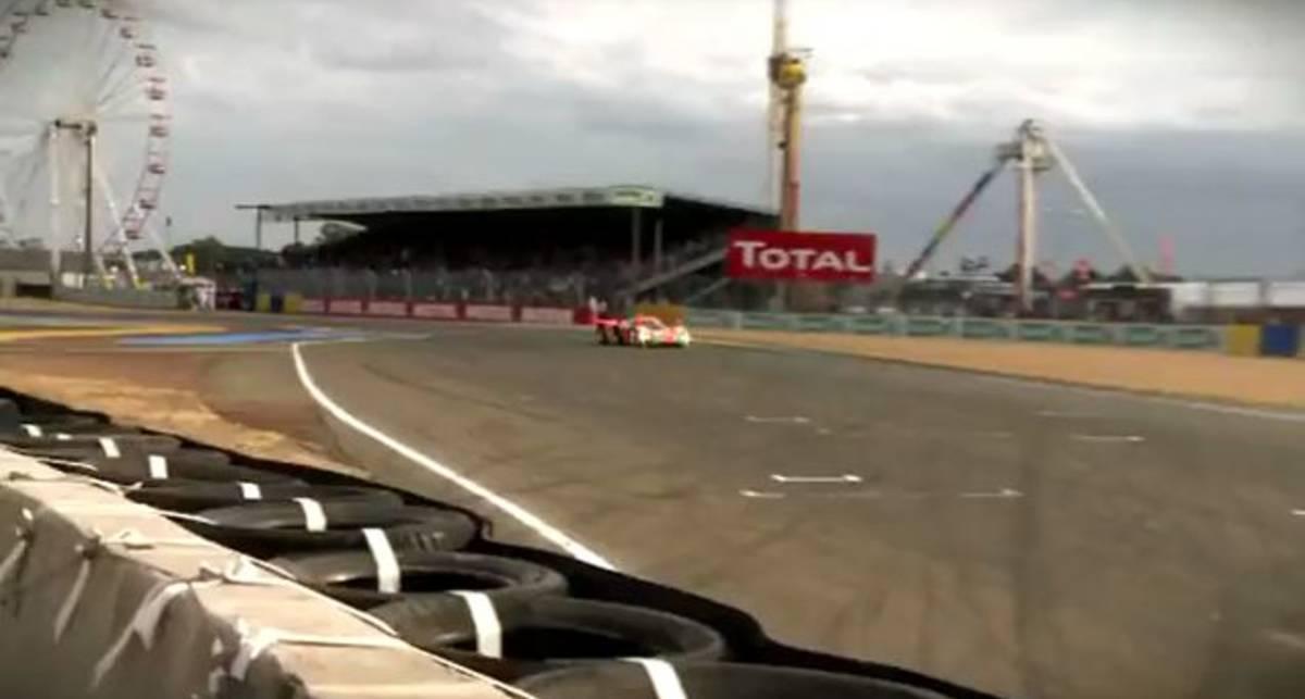 Patrick Dempsey driving the Mazda 787B