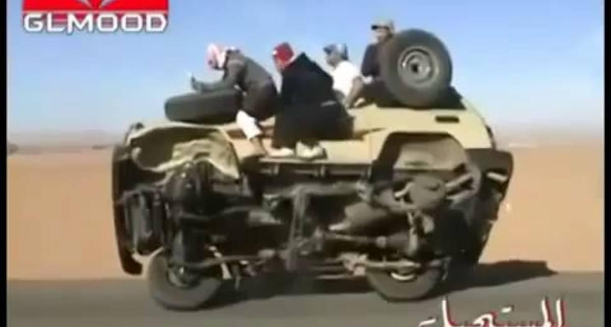 Арабские приколы. Меняем шины на ходу