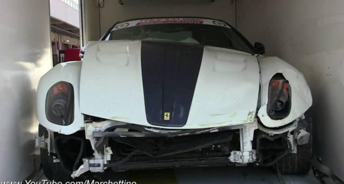 Разбитая Ferrari 599 GTO