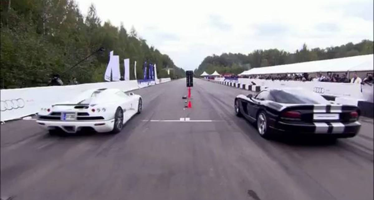 Koenigsegg CCXF vs Dodge Viper Supercharged