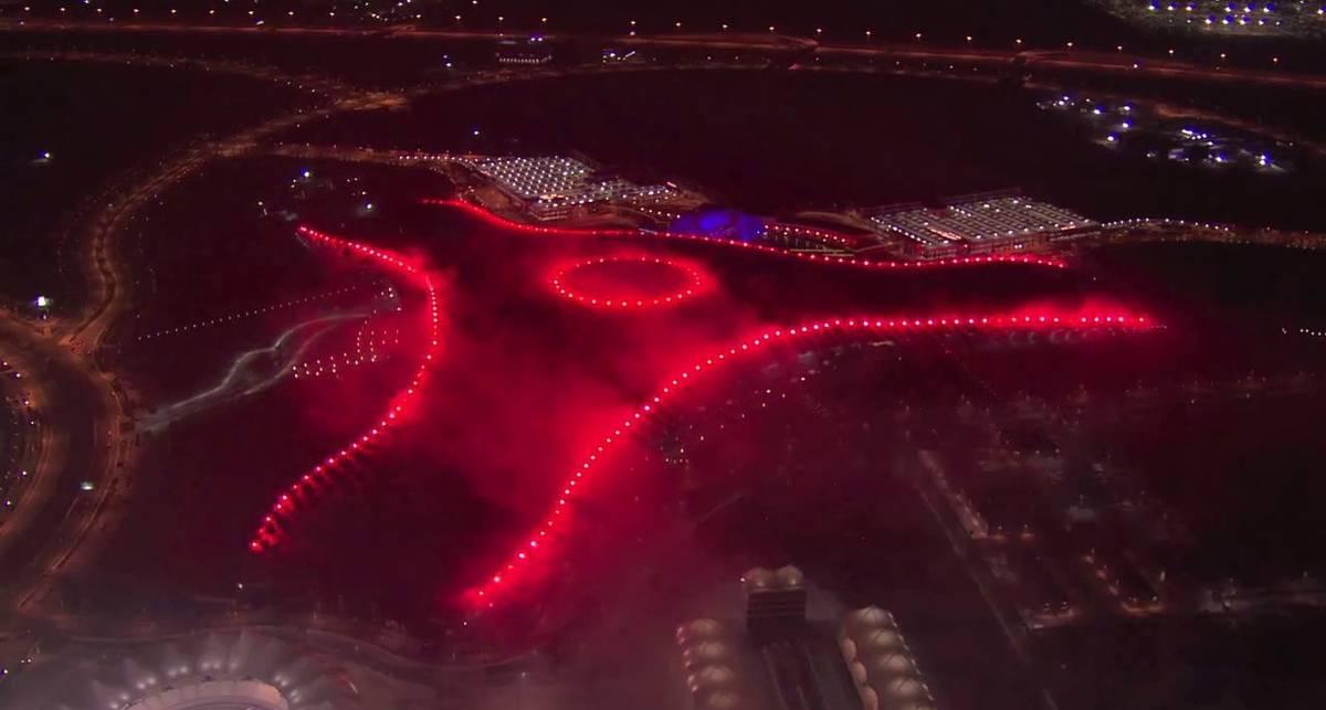 Огненное шоу открытия Ferrari World