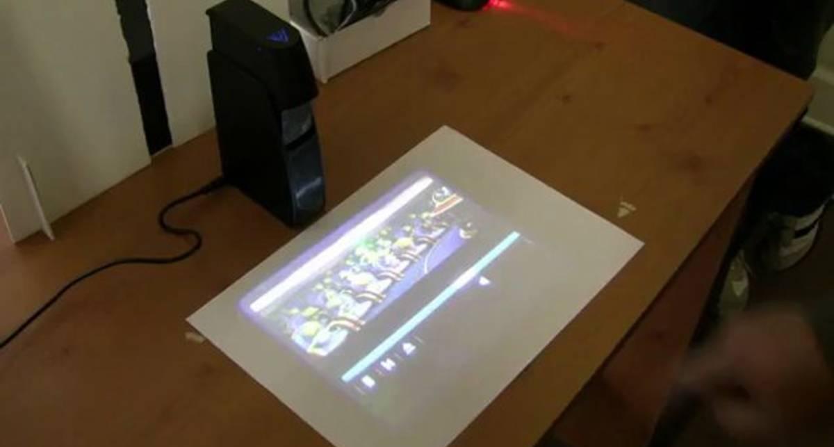 Проекционный сенсорный дисплей