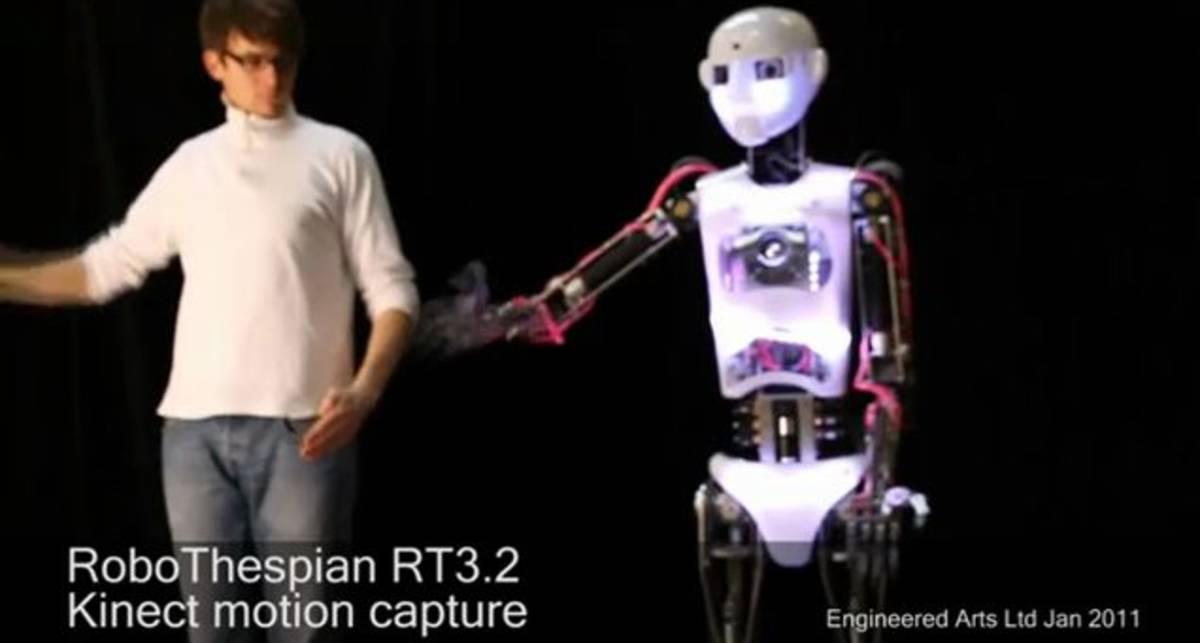 Робот-гуманоид управляемый Kinect