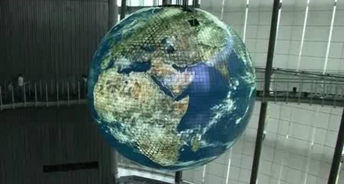 Гигантский Глобус из OLED дисплеев