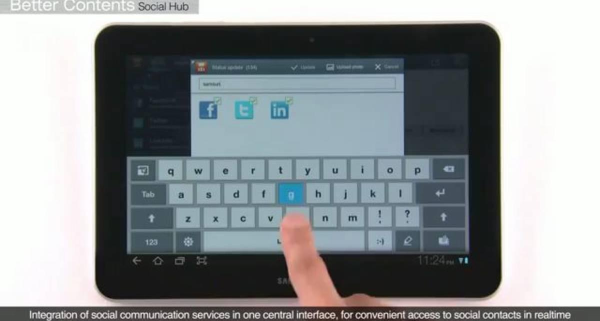 Официальное демо видео Galaxy Tab 10,1