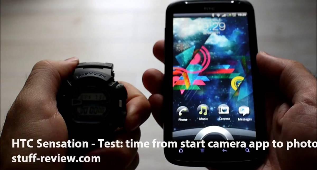 HTC Sensation - тестирование скорости фотографирования