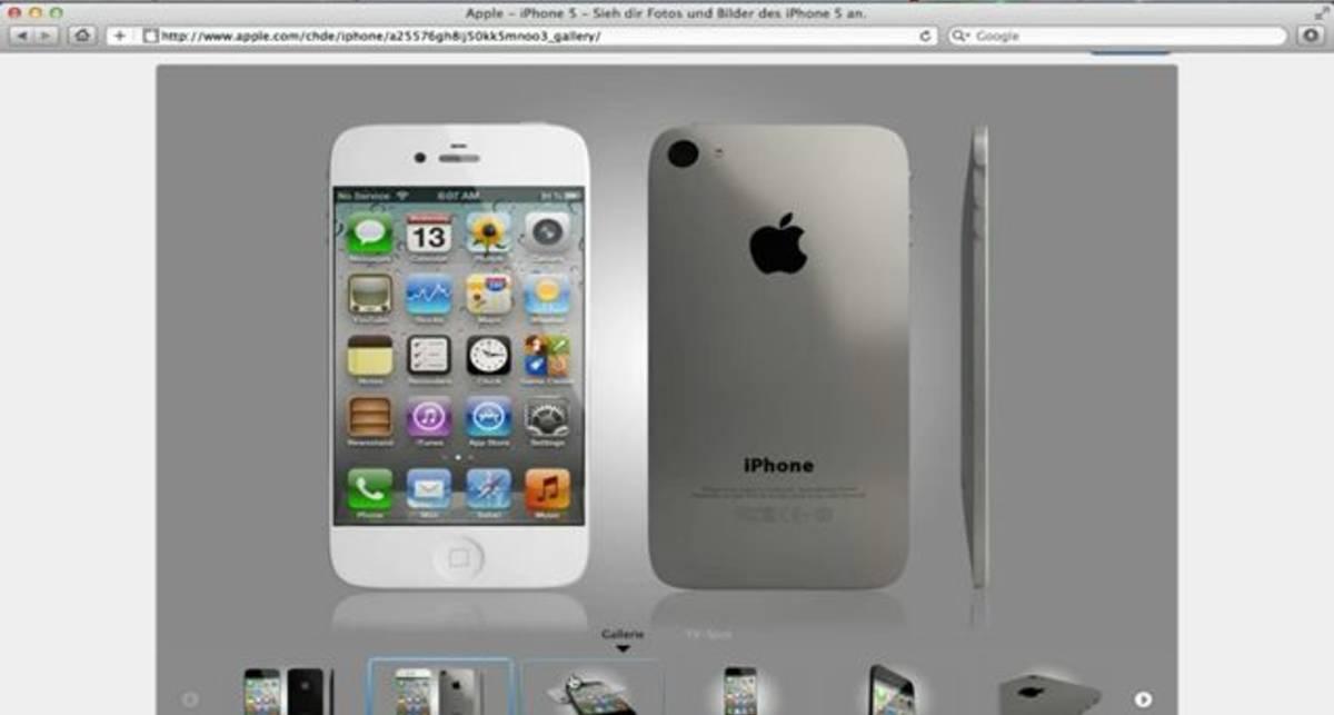 iPhone 5 утечка