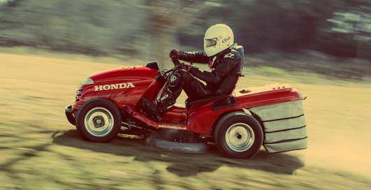 Газонокосилку Honda Mean Mower разогнали до 187 км/ч