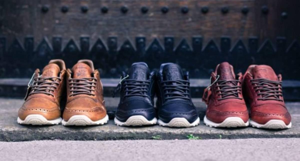 Марка Reebok показала 3 модели кожаных кроссовок
