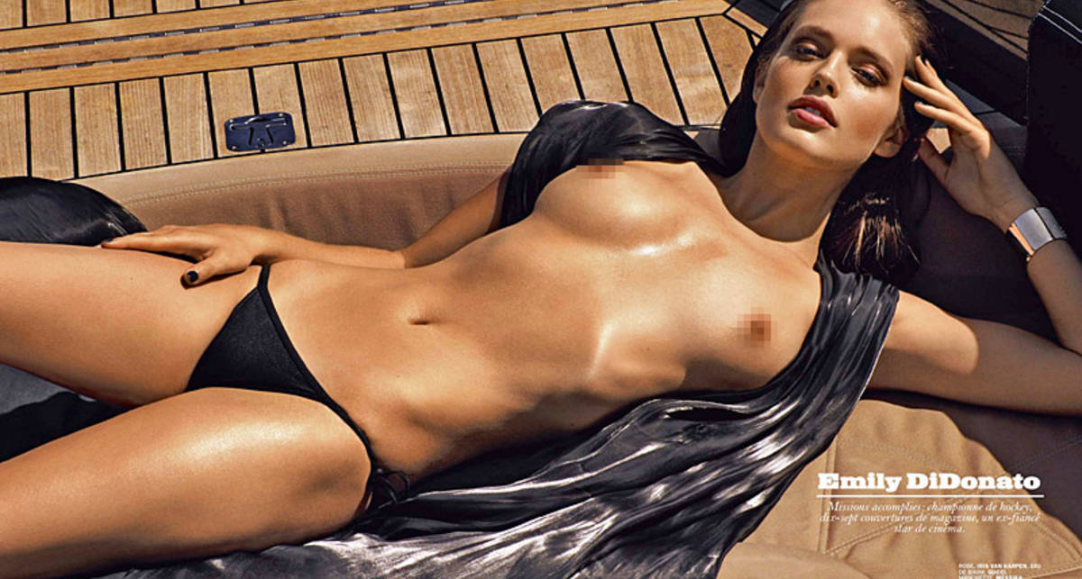 Модель Эмили Ди Донато оголилась для Lui Magazine
