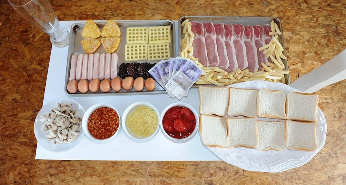 Как выглядит один из самых калорийных завтраков в мире
