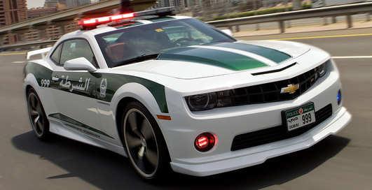 На чем катаются копы в столице ОАЭ: 10 суперкаров