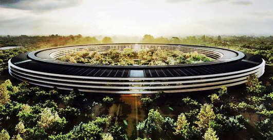 ВИДЕО: как выглядит новый кампус Apple