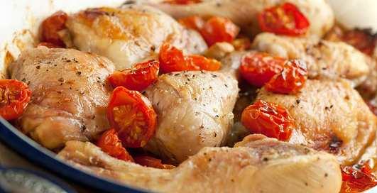 Рецепт: курица с горчичным вкусом, запеченная в духовке