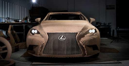 Бумажный Lexus: японцы презентовали авто из картона