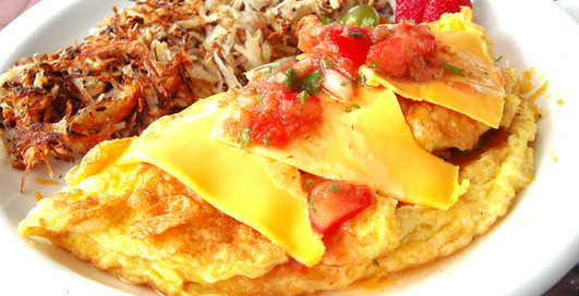 Сильный омлет: рецепт яиц с курицей