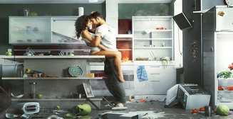 Секс на кухне: ТОП-4 горячих позы и места