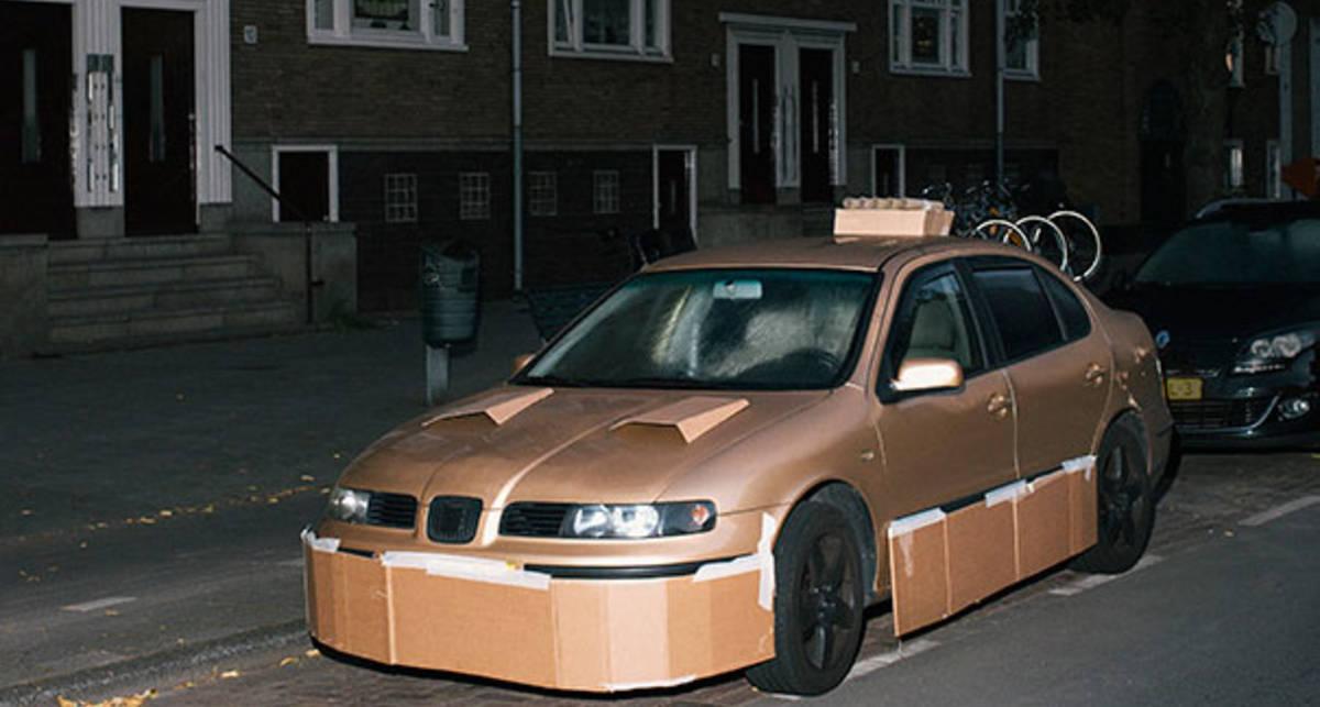 Картонный тюнинг: 9 фото бумажной отделки авто