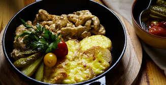 Картошка с мясом: рецепт в картинках