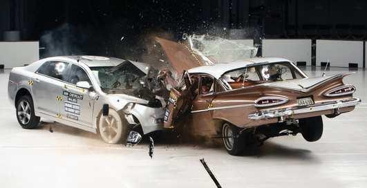 2009 год VS 1959 год: жесткий краш-тест двух Chevrolet